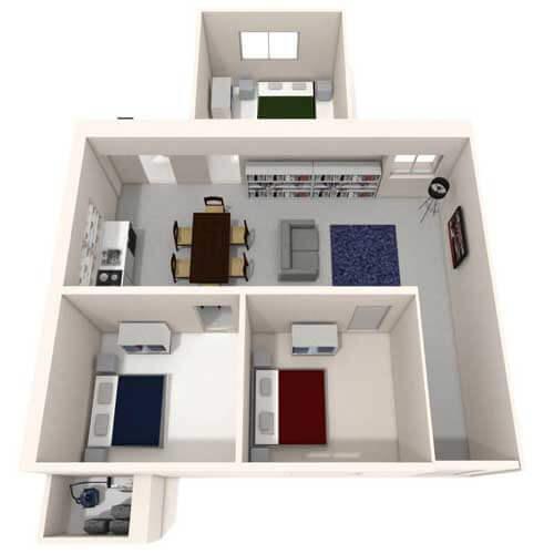Two bedroom flat image