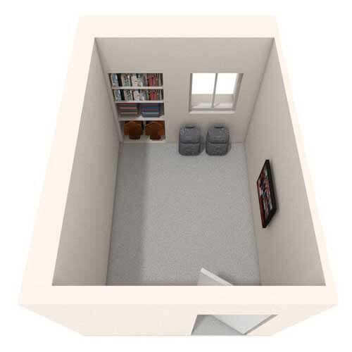 Student's room image