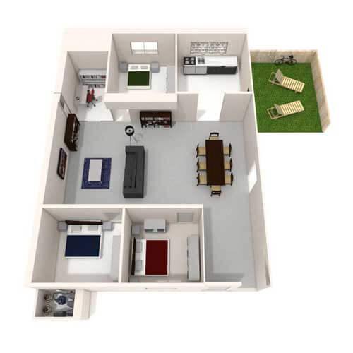 Three bedroom house with garden