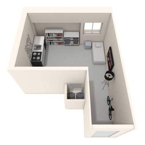 Studio flat image