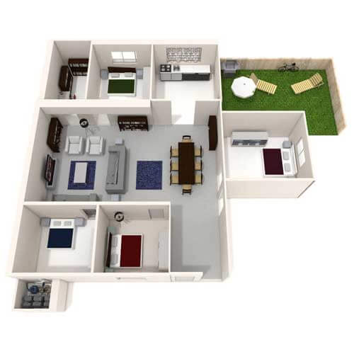 Four Bedroom house with small garden image
