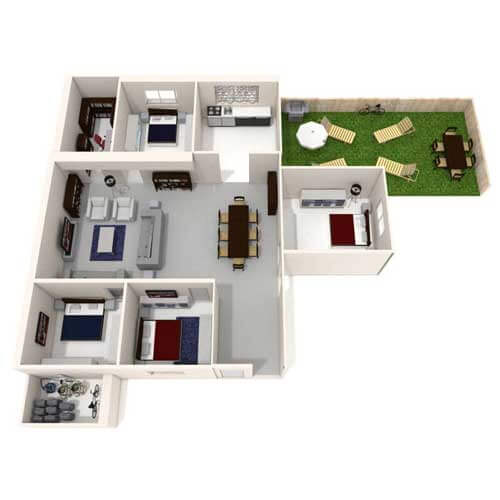 Four Bedroom house with large garden