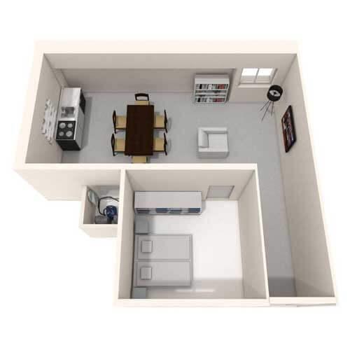 One bedroom flat image