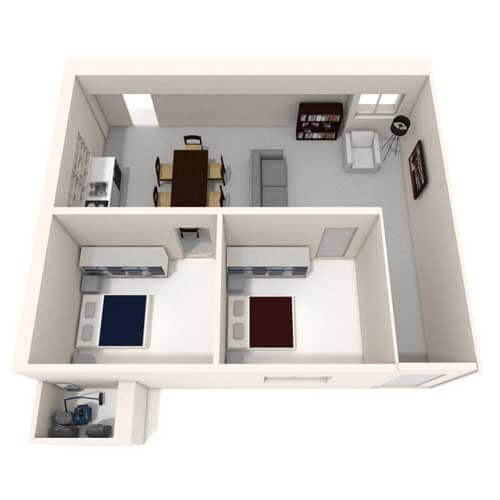 Two bedroom flat image